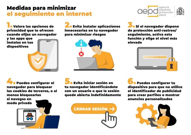 La AEPD publica recomendaciones para minimizar los riesgos para la privacidad en la navegación por Internet