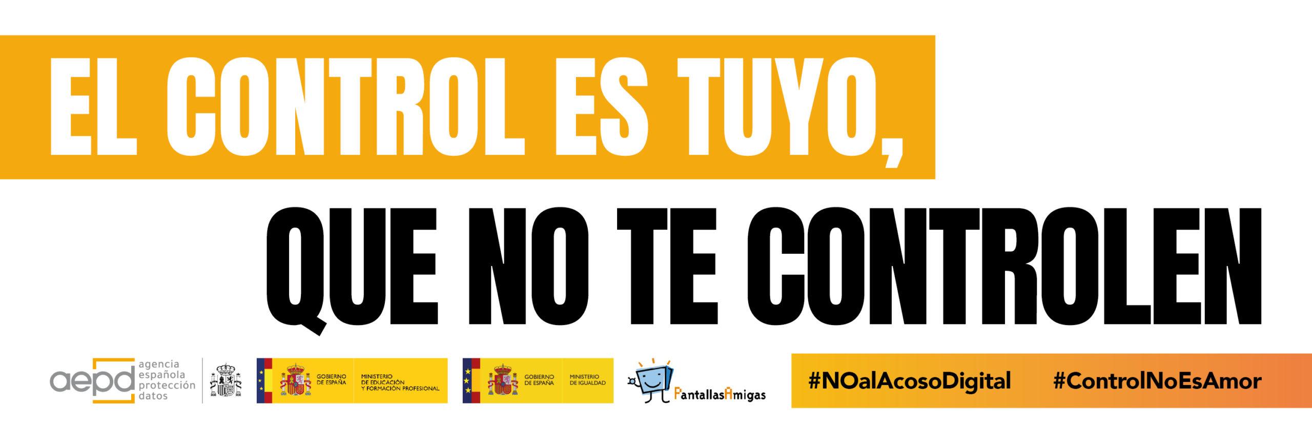 La AEPD y los ministerios de Educación e Igualdad, junto a PantallasAmigas, ponen en marcha la campaña 'El control es tuyo, que no te controlen'